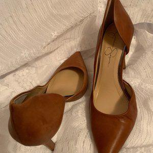 Jessica Simpson Tan Leather Heel Size 9.5